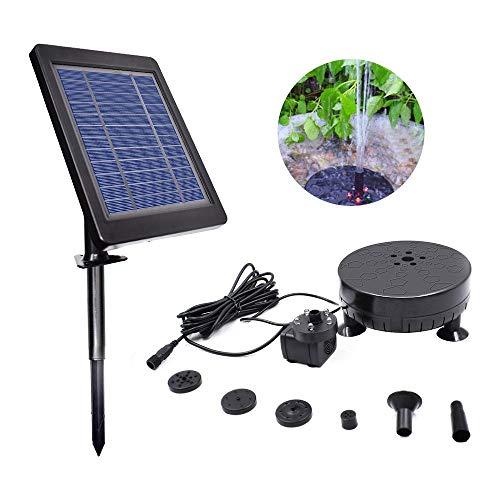 Baiwka Bomba de Agua Solar con batería de Respaldo e iluminación LED, Bomba de Agua sin escobillas...