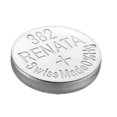 2 x Renata Uhrenbatterie - Swiss made Cells Silberoxid 0% Quecksilber Knopfzellen 1.55V Renata Batterien des langen Lebens 362 ( SR721SW )