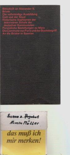 Gott und der Staat und andere Schriften, Hg. Susanne Hillmann, Texte des Sozialismus und Anarchismus,