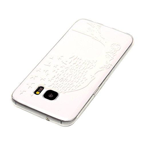 Hülle Galaxy S7 Edge, Asnlove Neue Modelle Crystal Case Handy Schutzhülle TPU Silikon Transparent Schutz Handy Hülle Case Tasche Etui Bumper für Samsung Galaxy S7 Edge G935, Augen Donuts Color-7