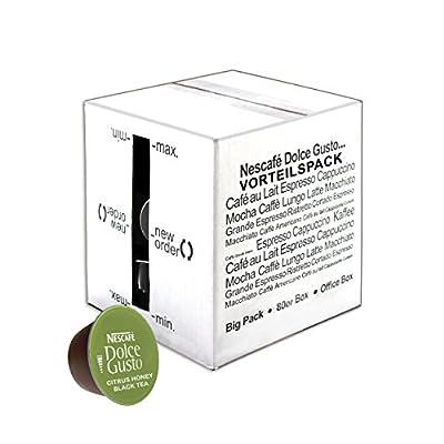 80x Nescafé Dolce Gusto Citrus, Honey Black Tea, Thé Noir avec arôme de, de miel, agrumes et gingembre, Thé Noir, paquet grand format, Lot de, 80gélules