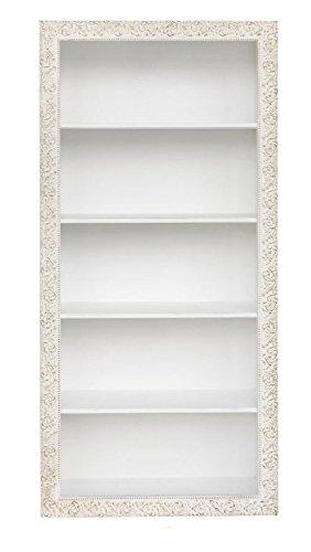 Libreria in legno contornata di fregi stile vintage disponibile in diverse rifiniture L'ARTE DI NACCHI 4687/BG
