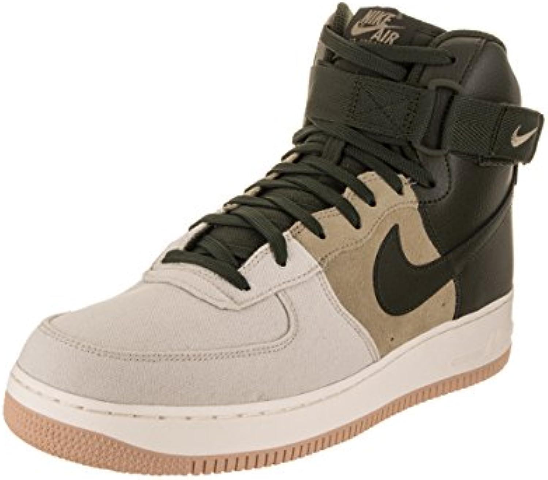 NIKE Men's Air Force 1 High '07 Lv8 Light Bone/Sequoia Khaki Sail Basketball Shoe 11 Men US