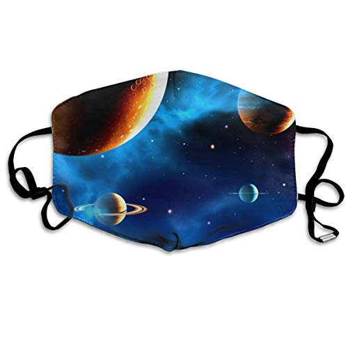 Monicago Einzigartige Unisex-Mundmaske, Gesichtsmaske, Cosmic Space Fixed Star Polyester Anti-dust Masks - Fashion Washed Reusable Face Mask for Outdoor Cycling (Roboter Mann Erwachsene Kostüme)