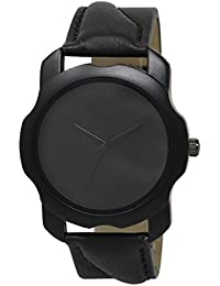 Snapcrowd New Attractive Stylish Latest Black Thorns Black Dial Leather Strap Black Analog Watch For Men & Boys