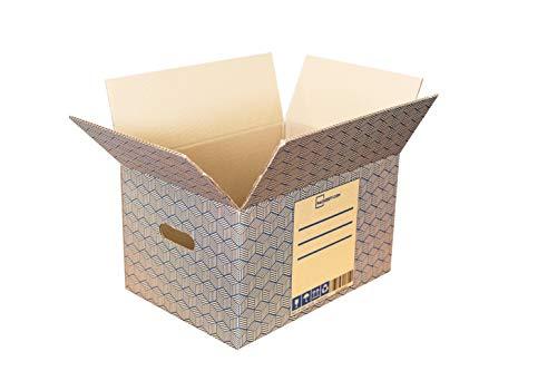 20 Unidades - Cajas de Carton para Mudanza y Almacenaje (43x30x25cm) con Asas – Fabricado por Packerfy