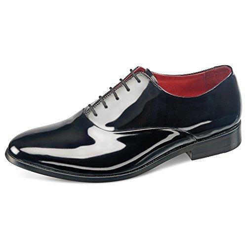 Samuel Windsor Men's Handmade Black Patent Italian Leather Formal Dress Shoe (9.5, Original Black)
