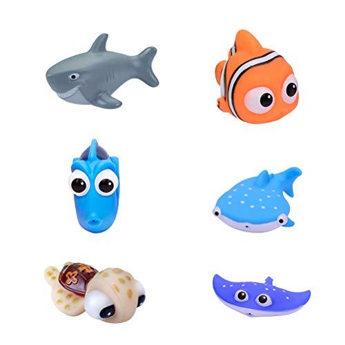 Ggdoo 6 PC-Marine-Kleintier Wasser-Spray-Spielzeug Quetschen Kinder Baby-Bad Badespielzeug Geschenk Wasserspielzeug