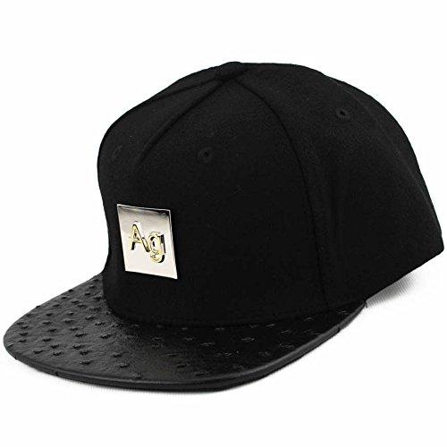 Preisvergleich Produktbild Agora Ostrich Leather Wool Snapback Mütze