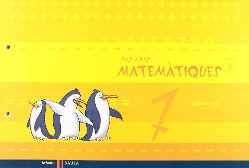 Quadern set Pas a Pas Matemàtiques nivell 3 Cicle Infantil (Projecte Pas a Pas) - 9788447924387