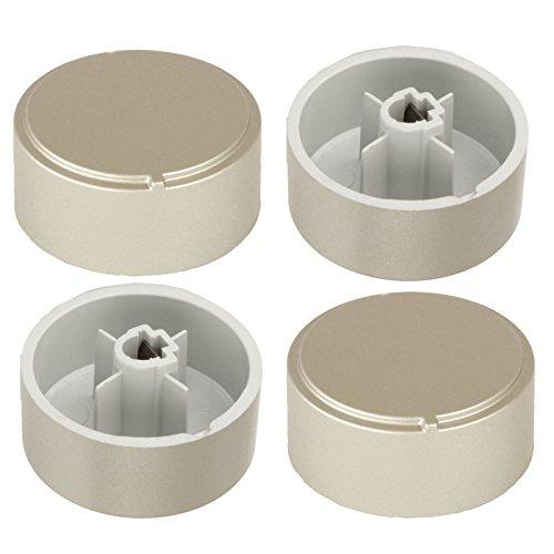 Spares2go Plata botones de Control para Ariston Horno/Cocina (Pack de 4)