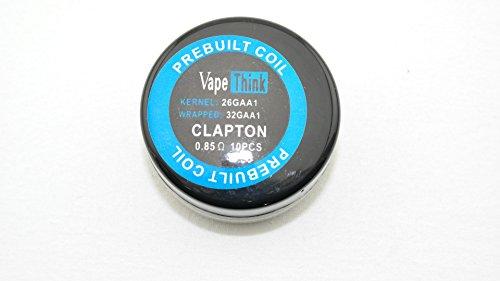 VapeThink PREBUILT COIL Clapton 0.85 Ohm 10 Stück fertige Ersatz Wicklung für Selbstwickler Atomizer