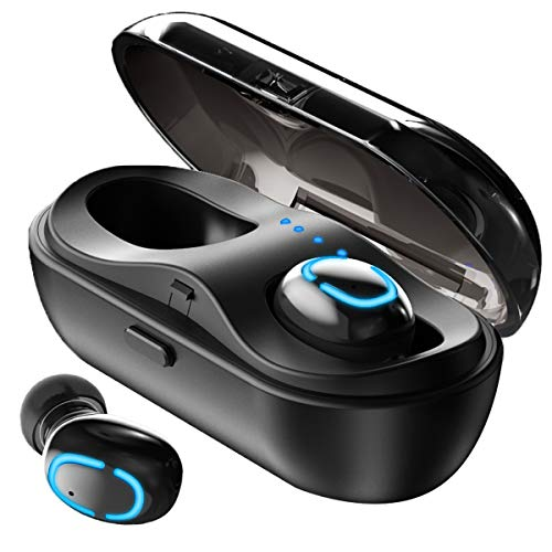 KIWI design In Ear Kopfhörer Kabellos Bluetooth Ohrhörer Sport Bluetooth 5.0 mit Mikrofon HiFi Stereo Schweißfest Bluetooth Kopfhörer mit 600 mAh Tragbarer Ladehülle für iPhone Samsung Huawei Design-stereo-kopfhörer