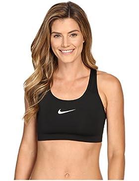 Nike W Np Pro Classic Swoosh Bra, Sujetador deportivo para Mujer, Negro (Black/White), M