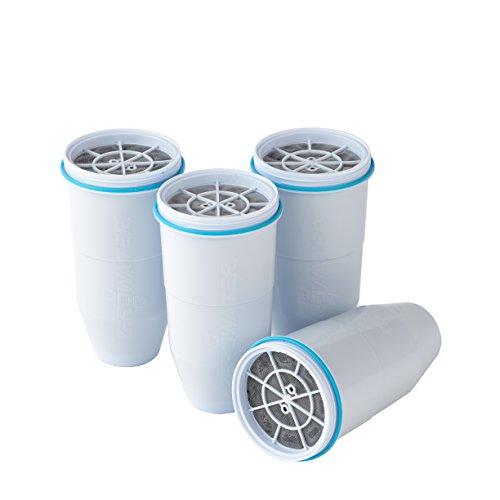ZeroWater Filter | 5 -Stufen-Filter für Tischwasserfilter/Wasserfilterkanne | Ion Filter Ersatzfilter - 4 Pck -