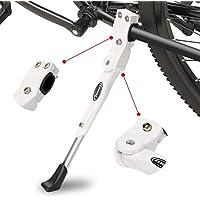 """ANWONE Caballete Lateral Ajustable, Soporte de Bicicleta de aleación Ajustable MTB con pie de Goma Antideslizante, Soporte de pie de aleación Universal para Bicicleta 22""""- 28""""(Blanco)"""
