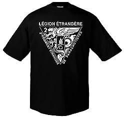 Rock Style 1Rep Fremdenlegion Légion étrangère Triangle, XXL, Schwarz