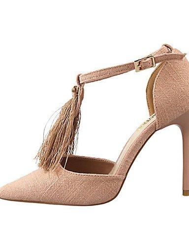 WSS 2016 Chaussures Femme-Décontracté-Noir / Bleu / Rouge / Gris / Kaki-Talon Aiguille-Talons-Chaussures à Talons-Laine synthétique light blue-us6 / eu36 / uk4 / cn36