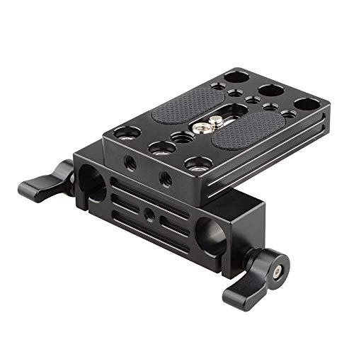 CAMVATE Camera Baseplate Integrated with 15mm Dual Rod Clamp for Shoulder Support Rig - Rig Support Shoulder