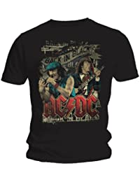 Official AC/DC Brian And Angus Unisex T-Shirt (Black)