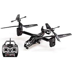 Goolsky Control Remoto helicóptero 2.4G 4CH Dual Axis RC Drone con Doble Gyro y Faro para el Juguete de los niños Frescos