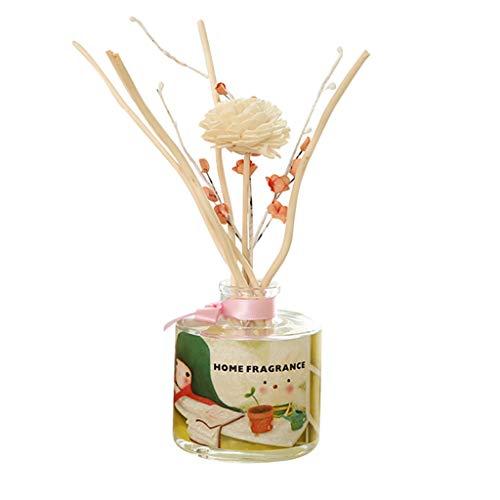 Detrade 50ML Reed Oil Diffusers mit natürlichen Sticks, Glasflasche und Duftöl Perfekte Geschenkidee (D Gardenia) -
