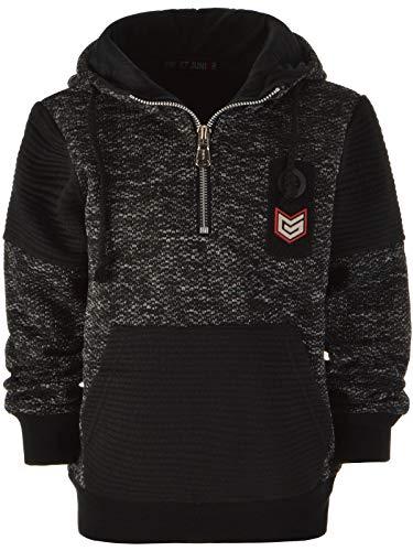 BEZLIT Kinder Jungen Hoodie Kapuzen-Pullover Sweat-Shirt Sweat-Jacke 22881 Schwarz 140