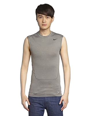 NIKE Pro Combat Core Compression 2.0 Men's Sleeveless Shirt Carbon Heather/Black Size:XXL