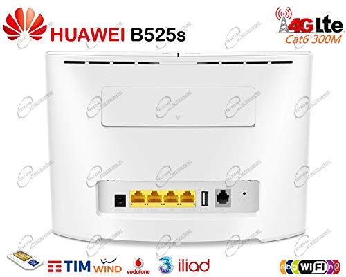 Huawei B525 4G 300Mbps mobile WiFi Router, unlocked to all networks - White  - Genuine UK Warranty stock - (non network logo)