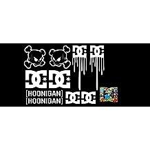 1Set Pegatina para coche Collant Ken Block hoonigan DC (3) Parabrisas para luna trasera + Plus Tipo graphixx Logo Sticker + + Estándar Color Blanco o waehle tus Color gemaess farbtab Elle en de 2+ Auto Car Rally Drift King JDM DUB Sport Tuning