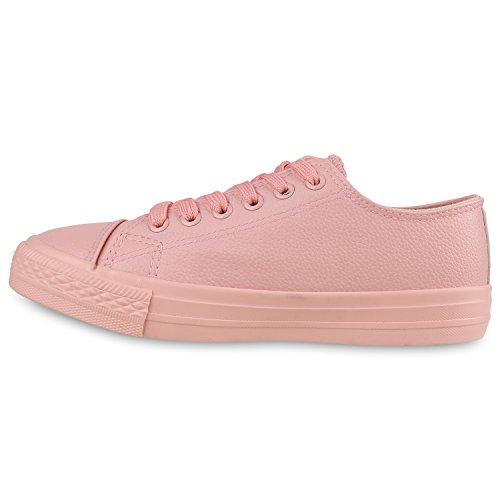 Damen Sneakers Sportschuhe   Sneaker Low Denim   Stoffschuhe Blumen Camouflage Rosa Glatt