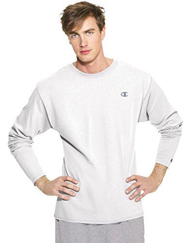 Champion Jersey di cotone da uomo a maniche lunghe maglietta White XX-Large