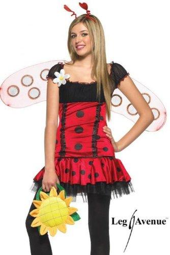 Kostüm Daisy Marienkäfer - Leg Avenue Kostüm der Highschool Marienkäfer schwarz/rot Small