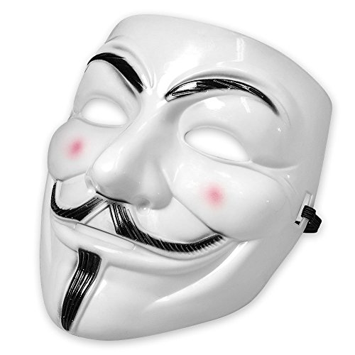 tta Maske mit Eyeliner Nostril Anonymous Guy Fawkes Fancy Adult Kostüm Zubehör Halloween-Maske Boolavard Ltd (Vendetta Kostüme)