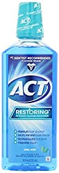 ACT Restoring Mouthwash, Cool Splash Mint, 4 Count