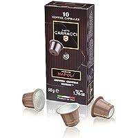 Caffè Carracci, Capsule Compatibili Nespresso, Napoli - 10 astucci da 10 capsule (totale 100 capsule)