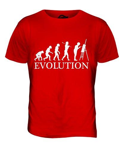 CandyMix Künstler Malerei Evolution Des Menschen Herren T Shirt Rot