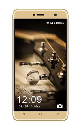 Celkon Diamond Mega 4G5.5 Inch Display Size (2 GB RAM) Dual SIM (16 GB ROM) 32 GB External Memory 8MP Back Camera 5MP Front Camera - (Gold)