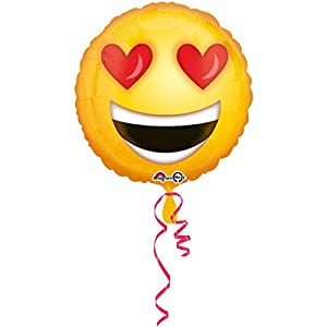 amscan 3362801 Smiley Love - Globo de Papel de Aluminio