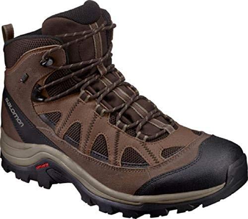 Salomon authentic ltr gtx, scarpe da escursionismo uomo, nero (black coffee/chocolate brown/vintage kaki), 42 eu