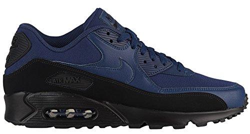 Nike Herren Air Max 90 Essential Sneakers, Mehrfarbig (Black/Midnight Navy 001), 40 EU - 90 Air