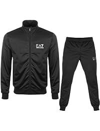 Emporio Armani EA7 Black Zip up Polyester Tracksuit 3ZPV70 PJ08Z