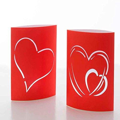 Farolillos de Papel LED Corazón (pack de 2)