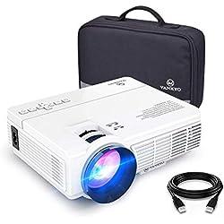 VANKYO LEISURE 3 Vidéoprojecteur Portable 2600 Lumens Rétroprojecteur Projecteur Supporte 1080P Home Cinéma Compatible avec TV Box/Chromecast/Smartphone/PC
