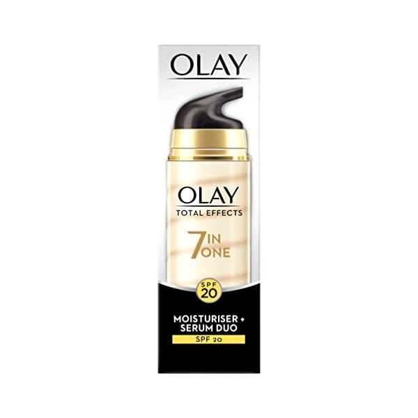 Olay Total Effects, sérum y líquido diurno facial (piel seca) – 40 ml.