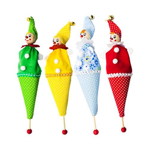 Amosfun 4 Piezas Marionetas Mano Navidad Payaso Pop-up