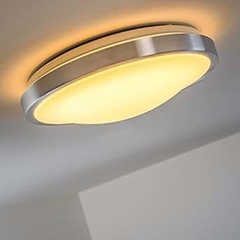 Led plafoniera 1x18 watt ip44 policarbonato lampada da - Amazon illuminazione bagno ...