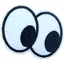 parches-ojos -6*4.5cm-termoadhesivos bordados aplique para ropa