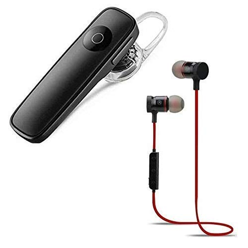 Quick Shop Q3 Bluetooth Wireless Stereo Noise Cancellation Magnetic Headset 4.1 & Mega Bass Headphones Compatible All Smartphone.