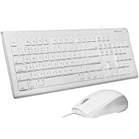 Macally MKEYECOMBO USB Keyboard and Optical Mouse for Mac and PC - White